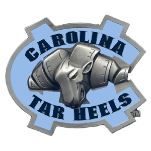 "Collegiate Hitch Cover - N. Carolina Tar Heels - Our collegiate hitch cover is a durable and attractive way to show off your school spirit. The hitch fits a 2"" hitch receiver. Thank you for shopping with CrazedOutSports.com"