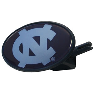 N. Carolina College Hitch Cover - Strong plastic hitch cover that includes hitch pin and features a school logo dome. Fits class III receivers. Thank you for shopping with CrazedOutSports.com