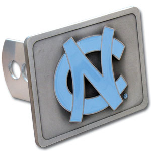 College Trailer Hitch Cover - North Carolina Tar Heels - Our College Trailer Hitch Cover is hand painted with 3-D carved logo. Hardware included. Fits standard hitches. Enameled on durable, rust-proof zinc. Fits Class II and Class III hitches. Check out our extensive line of  automotive accessories! Thank you for shopping with CrazedOutSports.com
