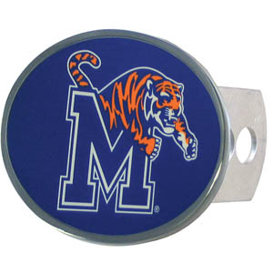 Memphis Tigers Oval Hitch Cover - This officially licensed collegiate Memphis Tigers oval hitch cover is made of durable zinc. The Memphis Tigers Oval Hitch Cover fits class II and class III hitch covers. Thank you for shopping with CrazedOutSports.com