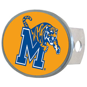 Memphis Tigers Oval Hitch Cover - Officially licensed collegiate Memphis Tigers oval hitch cover is made of durable zinc. Memphis Tigers Oval Hitch Cover fits class II and class III hitch covers. Thank you for shopping with CrazedOutSports.com