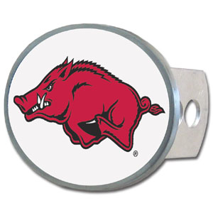 Arkansas Razorbacks Oval Hitch Cover - Our officially licensed Arkansas Razorbacks collegiate oval hitch cover is made of durable zinc and fits class II and class III hitch covers. Thank you for shopping with CrazedOutSports.com