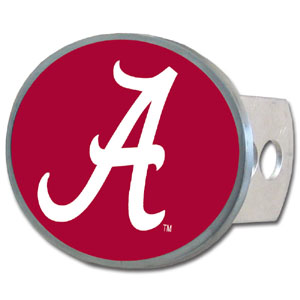 Alabama Crimson Tide Oval Hitch Cover - Our Alabama Crimson Tide officially licensed collegiate oval hitch cover is made of durable zinc and fits class II and class III hitch covers. Thank you for shopping with CrazedOutSports.com