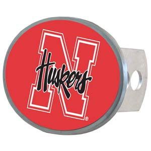 Nebraska Oval Hitch - Our officially licensed collegiate oval hitch cover is made of durable zinc and fits class II and class III hitch covers. Thank you for shopping with CrazedOutSports.com