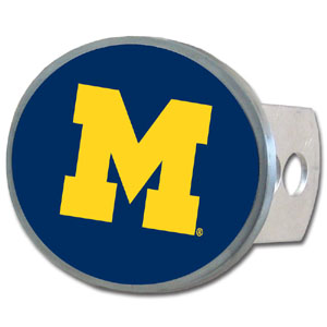 Michigan Wolverines Oval Hitch Cover - This officially licensed collegiate Michigan Wolverines Oval Hitch Cover is made of durable zinc and fits class II and class III hitch covers. Thank you for shopping with CrazedOutSports.com