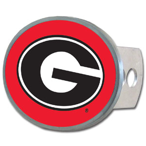 Georgia Bulldogs Oval Hitch Cover - This Georgia Bulldogs officially licensed collegiate oval hitch cover is made of durable zinc and fits class II and class III hitch covers. Thank you for shopping with CrazedOutSports.com