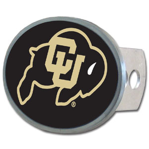 Colorado Buffaloes Oval Hitch Cover - Our officially licensed collegiate Colorado Buffaloes oval hitch cover is made of durable zinc and fits class II and class III hitch covers. Thank you for shopping with CrazedOutSports.com