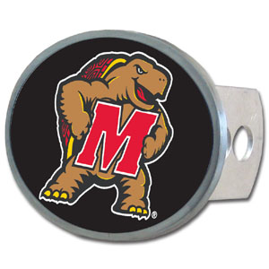 Maryland Terrapins Oval Hitch Cover - This officially licensed collegiate Maryland Terrapins Oval Hitch Cover is made of durable zinc and fits class II and class III hitch covers. Thank you for shopping with CrazedOutSports.com