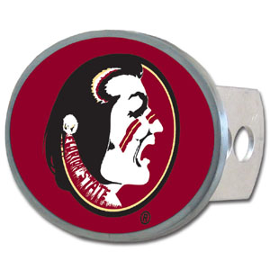Florida State Seminoles Oval Hitch Cover - Our officially licensed Florida State Seminoles collegiate oval hitch cover is made of durable zinc and fits class II and class III hitch covers. Thank you for shopping with CrazedOutSports.com