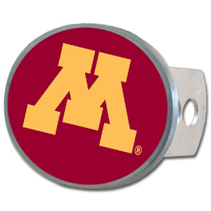 Minnesota Golden Gophers Oval Hitch Cover - This officially licensed collegiate Minnesota Golden Gophers Oval Hitch Cover is made of durable zinc. Minnesota Golden Gophers Oval Hitch Cover fits class II and class III hitch covers. Thank you for shopping with CrazedOutSports.com
