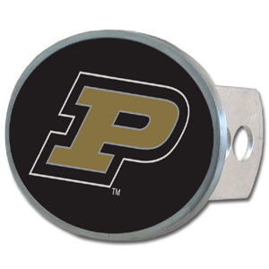 Purdue Oval Hitch Cover - Our officially licensed collegiate oval hitch cover is made of durable zinc and fits class II and class III hitch covers. Thank you for shopping with CrazedOutSports.com