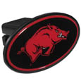 Arkansas Razorbacks Plastic Hitch Cover Class III - This unique Arkansas Razorbacks hitch cover snaps easily into place with 2 push locks removing the need for additional hardware. The hitch cover features a large Arkansas Razorbacks logo so you can show off your team pride. Fits class III hitch receivers. Thank you for shopping with CrazedOutSports.com
