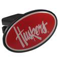 Nebraska Cornhuskers Plastic Hitch Cover Class III - This unique hitch plug snaps easily into place with 2 push locks removing the need for additional hardware. The hitch features a large Nebraska Cornhuskers logo so you can show off your team pride. Fits class III hitch receivers. Thank you for shopping with CrazedOutSports.com