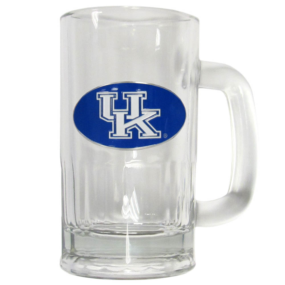 Kentucky Wildcats 16 oz Tankard - This classic pub brew mug has a 16 ounce capacity and features a metal Kentucky Wildcats emblem.