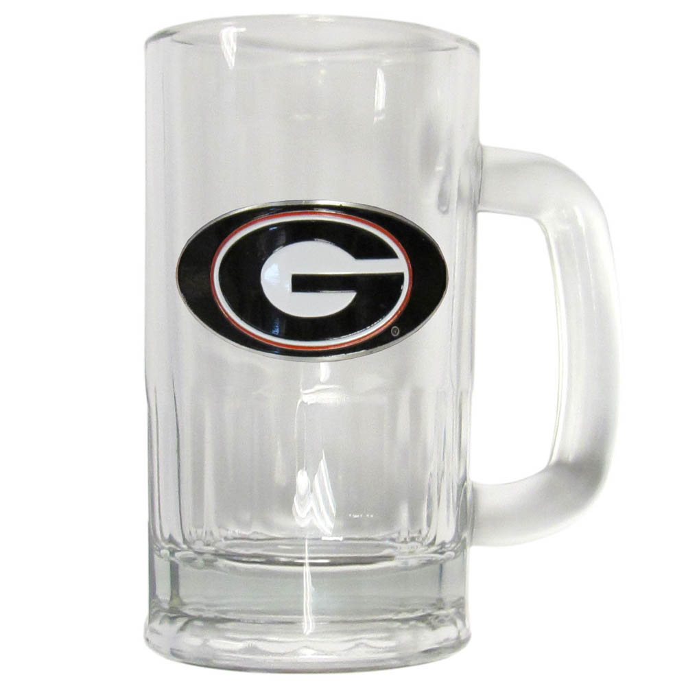 Georgia Bulldogs 16 oz Tankard - This classic pub brew mug has a 16 ounce capacity and features a metal Georgia Bulldogs emblem.
