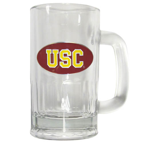 USC 16 oz Tankard - Classic 16 oz collegiate brew mug featuring a cast & enameled USC Trojans emblem. Thank you for shopping with CrazedOutSports.com