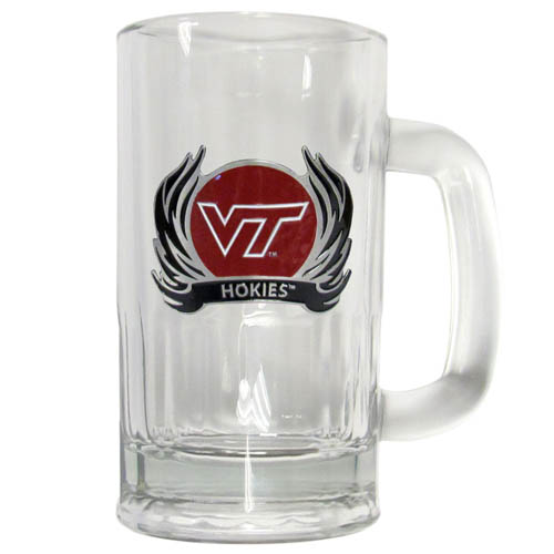 Virginia Tech Flame 16 oz Tankard - Classic 16 oz collegiate brew mug featuring a cast & enameled Virginia Tech Hokies emblem. Thank you for shopping with CrazedOutSports.com