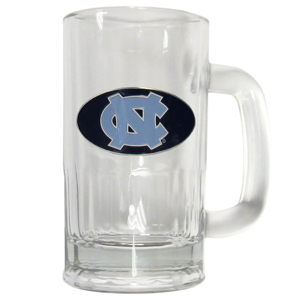 N. Carolina Tar Heels 16 oz Tankard - This classic pub brew mug has a 16 ounce capacity and features a metal N. Carolina Tar Heels emblem.