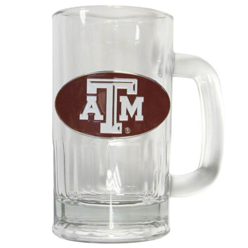 Texas A and M  12 oz Tankard - Classic 12 oz collegiate brew mug featuring a cast & enameled Texas A & M Aggies emblem. Thank you for shopping with CrazedOutSports.com