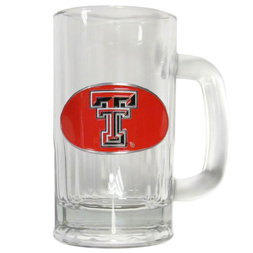 Texas Tech 12 oz Tankard - Classic 12 oz collegiate brew mug featuring a cast & enameled Texas Tech Raiders emblem. Thank you for shopping with CrazedOutSports.com