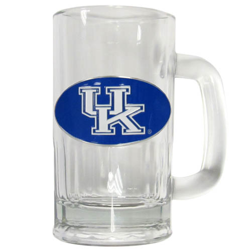 Kentucky 12 oz Tankard - Classic 12 oz collegiate brew mug featuring a cast & enameled Kentucky Wildcats emblem. Thank you for shopping with CrazedOutSports.com