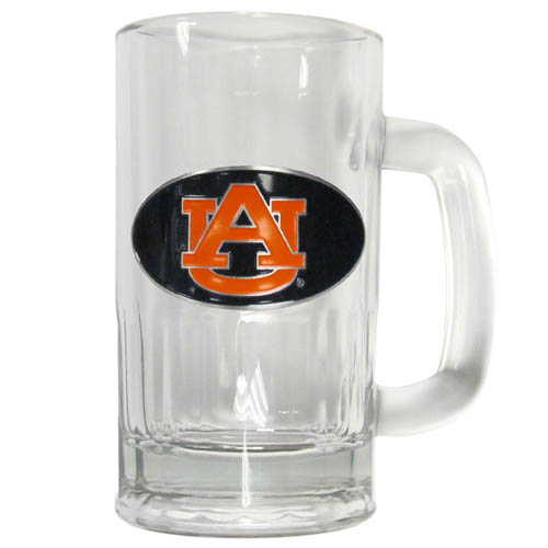 Auburn Tigers 12 oz Tankard - Classic 12 oz collegiate brew mug featuring a cast & enameled Auburn Tigers emblem. Thank you for shopping with CrazedOutSports.com