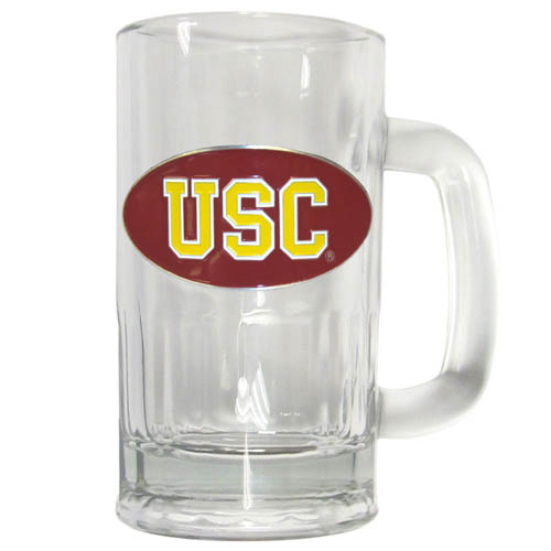 USC 12 oz Tankard - Classic 12 oz collegiate brew mug featuring a cast & enameled USC Trojans emblem. Thank you for shopping with CrazedOutSports.com