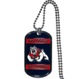 Fresno St. Bulldogs Tag Necklace - Expertly crafted Fresno St. Bulldogs tag necklaces featuring fine detailing and a hand enameled finish with chrome accents. 26 inch ball chain.