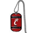 Cincinnati Bearcats Tag Necklace - Expertly crafted Cincinnati Bearcats tag necklaces featuring fine detailing and a hand enameled finish with chrome accents. 26 inch ball chain.