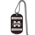 Mississippi St. Bulldogs Tag Necklace - Expertly crafted Mississippi St. Bulldogs tag necklaces featuring fine detailing and a hand enameled finish with chrome accents. 26 inch ball chain.
