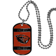 Oregon St. Beavers Tag Necklace - Expertly crafted Oregon St. Beavers tag necklaces featuring fine detailing and a hand enameled finish with chrome accents. 26 inch ball chain. Thank you for shopping with CrazedOutSports.com