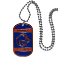 Boise St. Broncos Tag Necklace - Expertly crafted Boise St. Broncos tag necklaces featuring fine detailing and a hand enameled finish with chrome accents. 26 inch ball chain. Thank you for shopping with CrazedOutSports.com