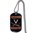 Virginia Cavaliers Tag Necklace - Expertly crafted Virginia Cavaliers tag necklaces featuring fine detailing and a hand enameled finish with chrome accents. 26 inch ball chain.