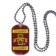 Iowa St. Cyclones Tag Necklace - Expertly crafted Iowa St. Cyclones tag necklaces featuring fine detailing and a hand enameled finish with chrome accents. 26 inch ball chain.