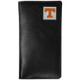 Tennessee Volunteers Tall Leather Wallet - Our officially licensed tall leather wallet cover is made of high quality leather with a fully cast metal Tennessee Volunteersemblem with enameled team color detail. The cover fits both side and top loaded checks and includes a large zippered pocket, windowed ID slot, numerous credit card slots and billfold pocket. Thank you for shopping with CrazedOutSports.com