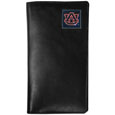 Auburn Tigers Tall Leather Wallet - Our officially licensed tall leather wallet cover is made of high quality leather with a fully cast metal Auburn Tigers emblem with enameled team color detail. The cover fits both side and top loaded checks and includes a large zippered pocket, windowed ID slot, numerous credit card slots and billfold pocket. Thank you for shopping with CrazedOutSports.com
