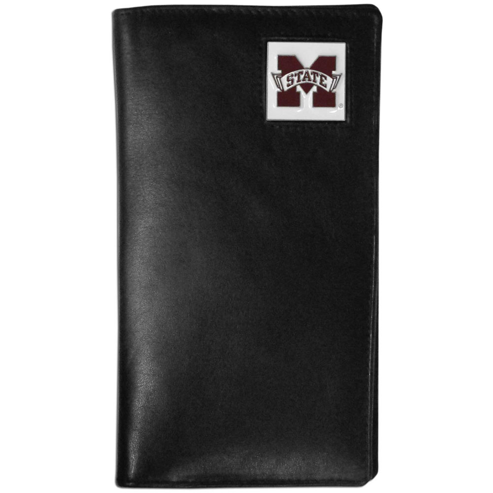 Mississippi St. Bulldogs Tall Leather Wallet