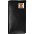 Illinois Fighting Illini Tall Leather Wallet - Our officially licensed Illinois Fighting Illini tall leather wallet cover is made of high quality leather with a fully cast metal Illinois Fighting Illiniemblem with enameled team color detail. The cover fits both side and top loaded checks and includes a large zippered pocket, windowed ID slot, numerous credit card slots and billfold pocket. Thank you for shopping with CrazedOutSports.com