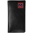 Mississippi Rebels Tall Leather Wallet - Our officially licensed tall leather wallet cover is made of high quality leather with a fully cast metal Mississippi Rebelsemblem with enameled team color detail. The cover fits both side and top loaded checks and includes a large zippered pocket, windowed ID slot, numerous credit card slots and billfold pocket. Thank you for shopping with CrazedOutSports.com