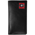Georgia Bulldogs Tall Leather Wallet - Our officially licensed Georgia Bulldogs tall leather wallet cover is made of high quality leather with a fully cast metal Georgia Bulldogsemblem with enameled team color detail. The cover fits both side and top loaded checks and includes a large zippered pocket, windowed ID slot, numerous credit card slots and billfold pocket. Thank you for shopping with CrazedOutSports.com