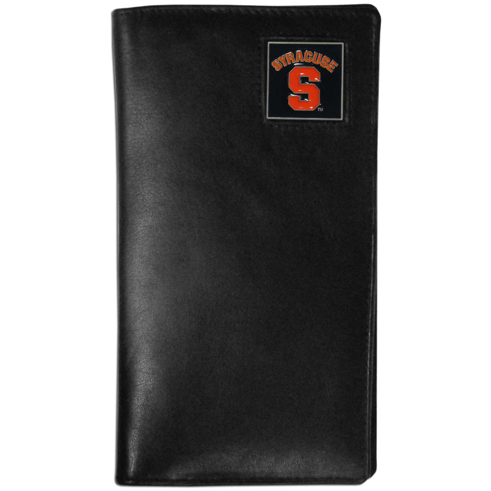 Syracuse Orange Tall Leather Wallet