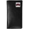 UNLV Rebels Tall Leather Wallet - Our officially licensed tall leather wallet cover is made of high quality leather with a fully cast metal UNLV Rebelsemblem with enameled team color detail. The cover fits both side and top loaded checks and includes a large zippered pocket, windowed ID slot, numerous credit card slots and billfold pocket. Thank you for shopping with CrazedOutSports.com
