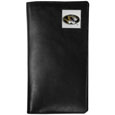 Missouri Tigers Tall Leather Wallet - Our officially licensed tall leather wallet cover is made of high quality leather with a fully cast metal Missouri Tigersemblem with enameled team color detail. The cover fits both side and top loaded checks and includes a large zippered pocket, windowed ID slot, numerous credit card slots and billfold pocket. Thank you for shopping with CrazedOutSports.com