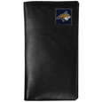 Montana St. Bobcats Tall Leather Wallet - Our officially licensed tall leather wallet cover is made of high quality leather with a fully cast metal Montana St. Bobcatsemblem with enameled team color detail. The cover fits both side and top loaded checks and includes a large zippered pocket, windowed ID slot, numerous credit card slots and billfold pocket. Thank you for shopping with CrazedOutSports.com