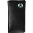 Colorado St. Rams Tall Leather Wallet - Our officially licensed tall leather wallet cover is made of high quality leather with a fully cast metal Colorado St. Rams emblem with enameled team color detail. The cover fits both side and top loaded checks and includes a large zippered pocket, windowed ID slot, numerous credit card slots and billfold pocket. Thank you for shopping with CrazedOutSports.com