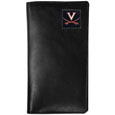 Virginia Cavaliers Tall Leather Wallet - Our officially licensed tall leather wallet cover is made of high quality leather with a fully cast metal Virginia Cavaliersemblem with enameled team color detail. The cover fits both side and top loaded checks and includes a large zippered pocket, windowed ID slot, numerous credit card slots and billfold pocket. Thank you for shopping with CrazedOutSports.com