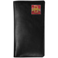 Iowa St. Cyclones Tall Leather Wallet - This officially licensed Iowa St. Cyclones tall leather wallet cover is made of high quality leather with a fully cast metal Iowa St. Cyclonesemblem with enameled team color detail. The cover fits both side and top loaded checks and includes a large zippered pocket, windowed ID slot, numerous credit card slots and billfold pocket. Thank you for shopping with CrazedOutSports.com