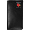Louisville Cardinals Tall Leather Wallet - This officially licensed Louisville Cardinals tall leather wallet is made of high quality leather with a fully cast metal Louisville Cardinalsemblem with enameled team color detail. The Louisville Cardinals Tall Leather Wallet fits both side and top loaded checks and includes a large zippered pocket, windowed ID slot, numerous credit card slots and billfold pocket. Thank you for shopping with CrazedOutSports.com