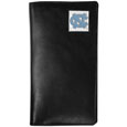 N. Carolina Tar Heels Tall Leather Wallet - Our officially licensed tall leather wallet cover is made of high quality leather with a fully cast metal N. Carolina Tar Heelsemblem with enameled team color detail. The cover fits both side and top loaded checks and includes a large zippered pocket, windowed ID slot, numerous credit card slots and billfold pocket. Thank you for shopping with CrazedOutSports.com