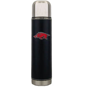 "Arkansas Razorbacks Thermos - Arkansas Razorbacks 11"" tall executive thermos with a fully cast and enameled school emblem. Thank you for shopping with CrazedOutSports.com"
